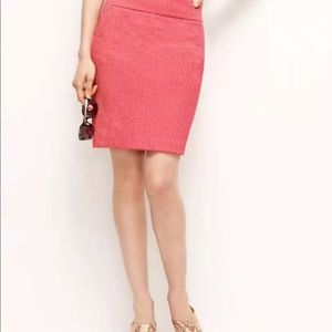 Pink Stretch Floral Jacquard Mini Skirt